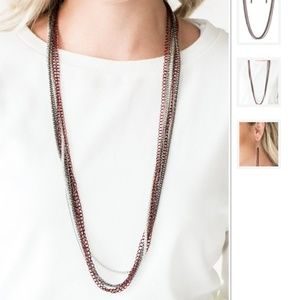 NWT Long Multi-Chain Necklace Set